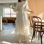 Round-neck Long Tiered Dress