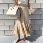 Godet Knit Long Mermaid Skirt