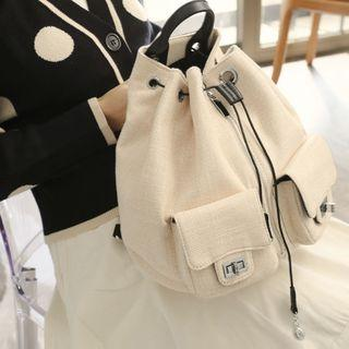 Canvas Backpack Off-white - One Size