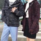 Couple Hooded Knit Coat