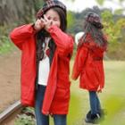 Family Matching Drawstring Hooded Fleece-lining Jacket