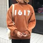 Mock-neck Numbering Sweatshirt