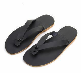 Faux-leather Flip-flops