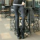 Band-waist Quilted Panel Skinny Jeans