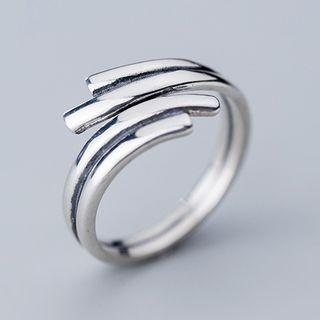 925 Sterling Silver Layered Open Ring Ring - Open - One Size