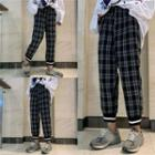 High-waist Plaid Pants As Shown In Figure - One Size