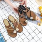 Loop Toe Wedge Sandals