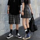 Plaid Shorts / Mini Pleated Skirt