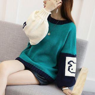 Loose-fit Color-block Sweater