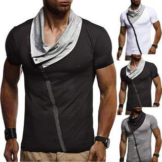 Short-sleeve Collared  Top