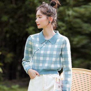 Plaid Sweater Plaid - One Size