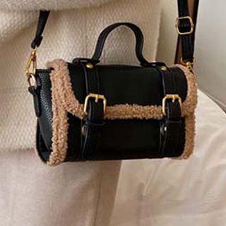 Flap Faux Fur Crossbody Bag