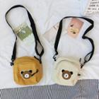 Bear Appliqued Crossbody Bag