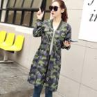 Camouflage Zip Long Jacket