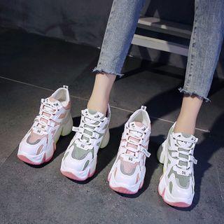 Chunky Platform Wedge Sneakers