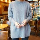 Plain Long Knit Pullover