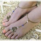 Anchor-accent Beaded Anklet
