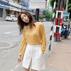 Cotton Wide-leg Shorts