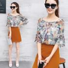 Set: Chiffon Top + Miniskirt
