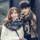 Couple Matching Camo Fringed Scarf