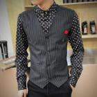 Patterned Mock Two-piece Shirt