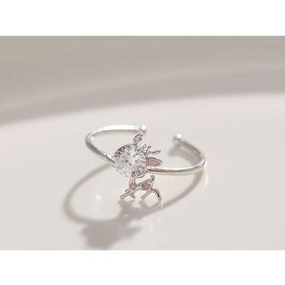 Rhinestone Deer Open Ring Rhinestone Deer Open Ring - One Size