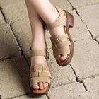 Block Heel Strapped Sandals