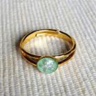 Resin Little Snowflake Ring (mint) One Size