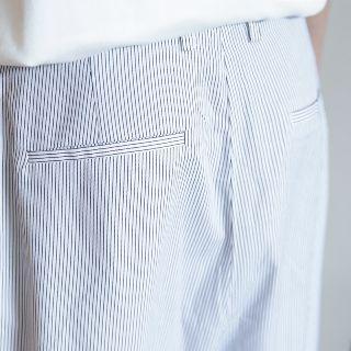 Pinstripe Wide Leg Capri Pants