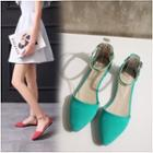 Ankle Strap Dorsay Flats