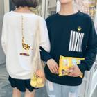 Couple Matching Giraffe Print Sweatshirt