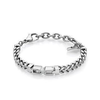 Steel X Shape Bracelet  Silver - One Size