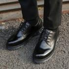 Faux-leather Patent Oxfords