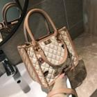 Chain Detail Quilted Satchel
