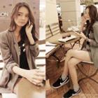 Pocket-detail Linen Jacket