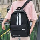 Striped Lettering Canvas Backpack