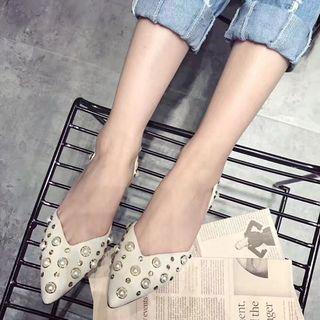 Pointy Toe Beaded Flats