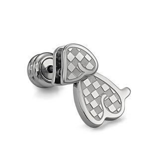 Doggy Earring (silver, Single) Silver - One Size