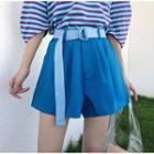 Plain Pleated Shorts / Belt