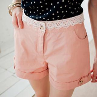 Lace-trim Shorts