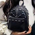 Studded Faux Leather Mini Backpack