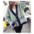 Patterned Mohair Chunky Cardigan