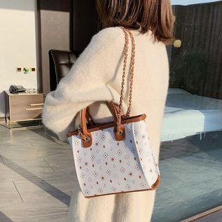Printed Faux Leather Hand Bag