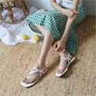 T-strap Patent Sandals
