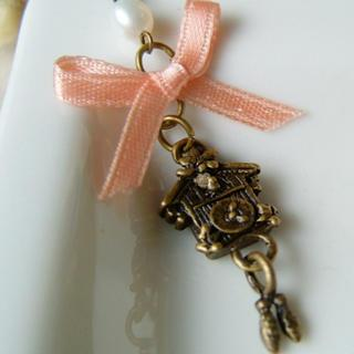 Sweetie Ribbon Pearl Bird House Necklace