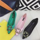 Embellished Buckle Pointed Flats