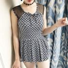 Rhombus Print Swimdress