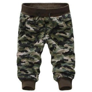 Camouflage Cropped Sweatpants
