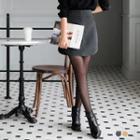 Arc-hem Side-zipper Pleated Skirt