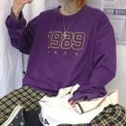 Number Embroidery Sweatshirt